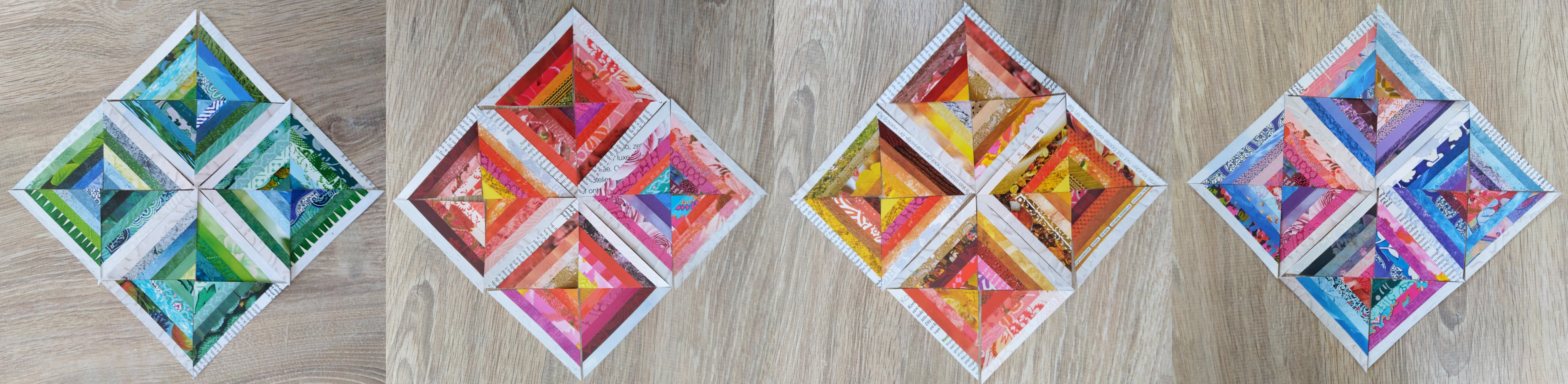 DIY papiercollage blokken